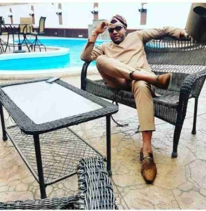 E-Money Chilling By The Poolside In His Five Star Mansion (Photo)